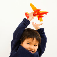 Boy playing airplane