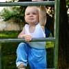 Boy climbing ladder